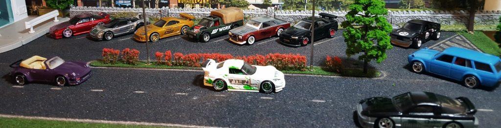 Custom Hot wheels enjoying their JDM racing decals