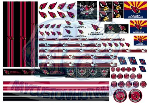 arizona cardinals hot wheels decals