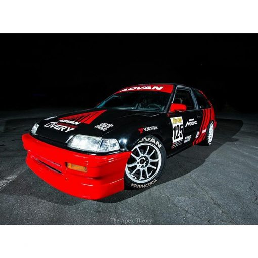 Advan racing decals on Honda Civic EF