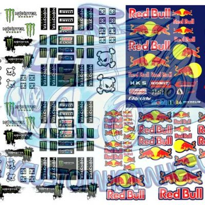 Redbull and Monster Racing Decals for Hot Wheels Diecast Cars
