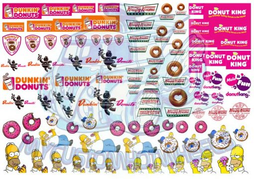 Delicious Donut Racing Decals for Hot Wheels 1:64 Scale Diecast Cars