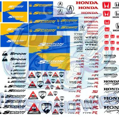 honda spoon racing waterslide racing decals for model cars