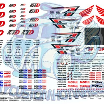 Initial-D Buddy Club racing waterslide racing decals for model cars