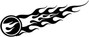 Treasure Hunt Logo Flames on custom sports cars