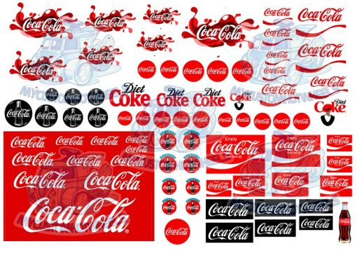 Coca Cola Coke Decals for all popular scale model diecast cars