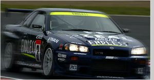 square racing number decals - skyline gtr