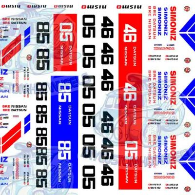 BRE Racing Decals for Hot Wheels Diecast Cars