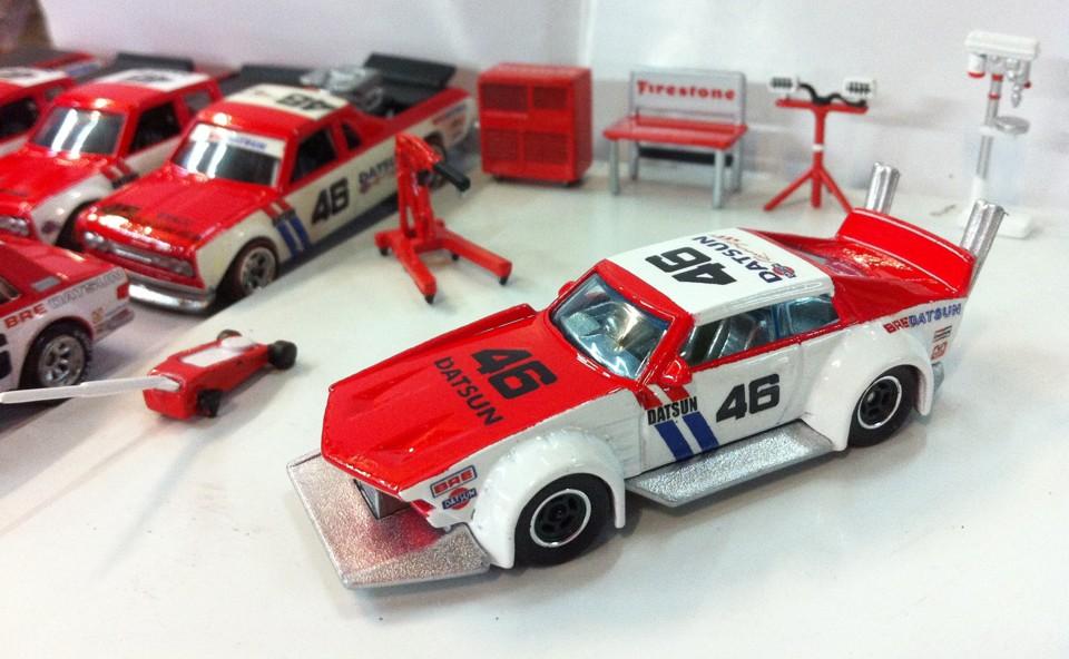 BRE Racing decals on mad manga custom hotwheels by MassPutra Customs
