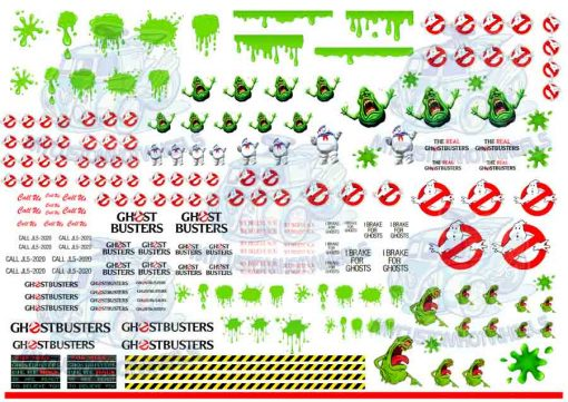 Ghostbusters decals for Hot wheels