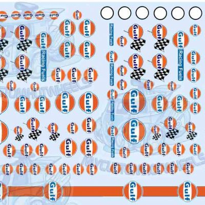 Gulf Racing decals for Hot Wheels Diecast Cars