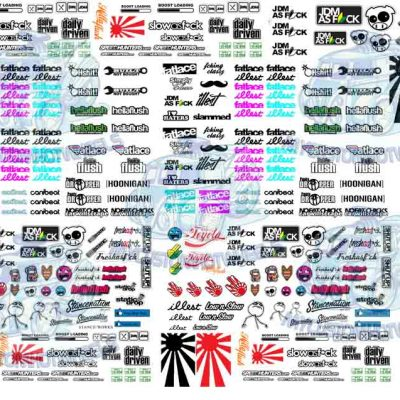 Generic JDM Decals for Hot Wheels Model Cars