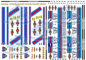Martini Racing Decals in 1:32 scale