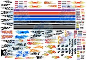Racing Decals - flames and GT Stripes for Hot Wheels