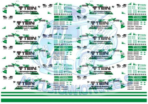 Tein racing decals for hot wheels diecast cars