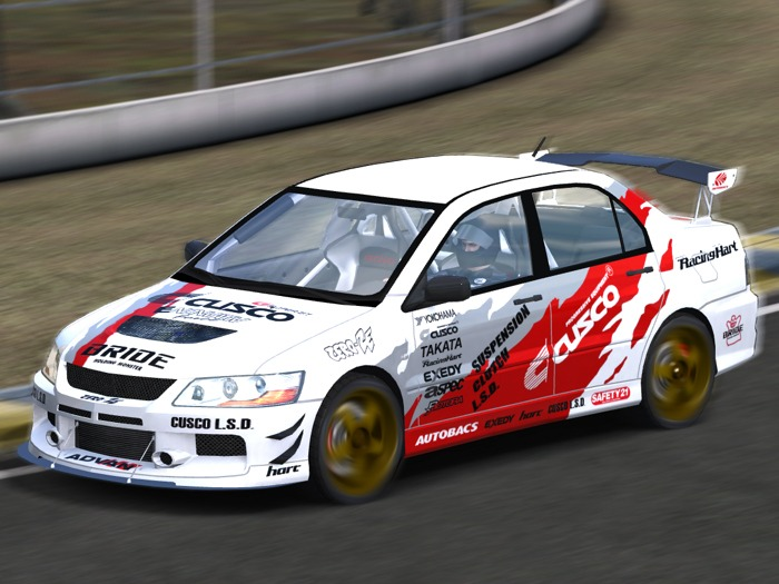 Cusco Racing Decals on Mitsubishi Evo