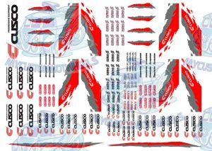 Cusco racing decals for 1:64 scale model cars