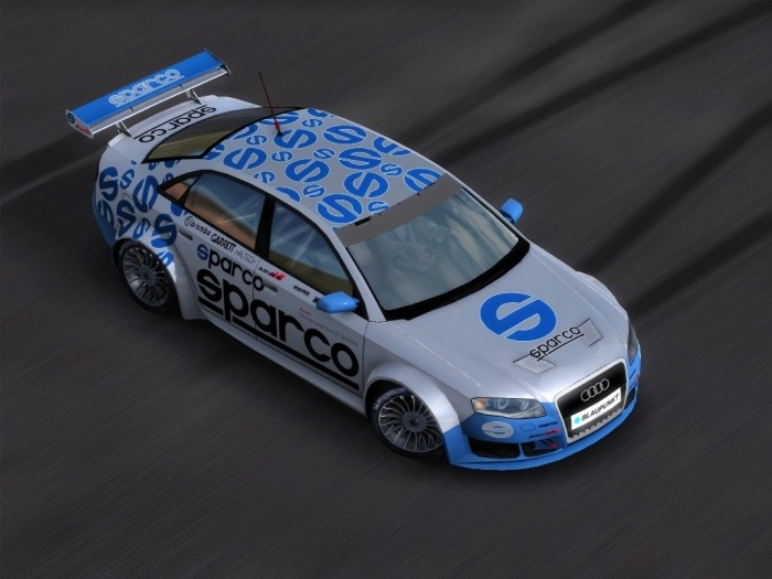 sparco racing decals on an Audi RS4