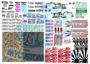 JDM Decals for 1:64 scale Diecast Cars - Hot Wheels Decals