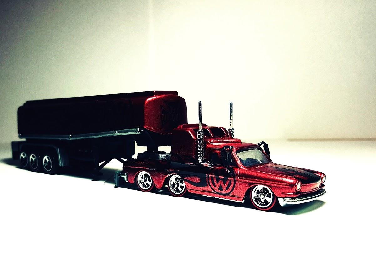 Hot Wheels volkswagen custom with vw decals