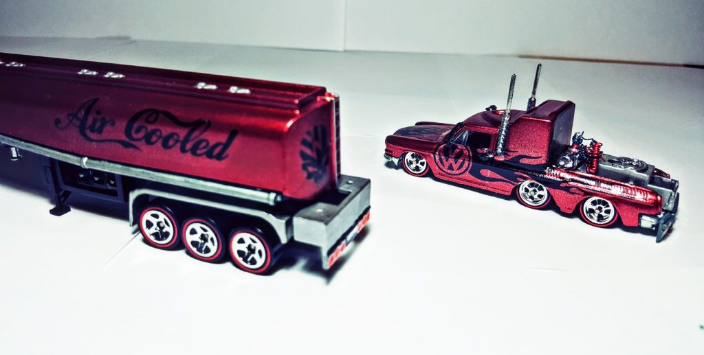 Hot Wheels volkswagen custom with vw decals
