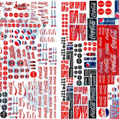 Coca Cola Vs Pepsi Decals for Hot Wheels