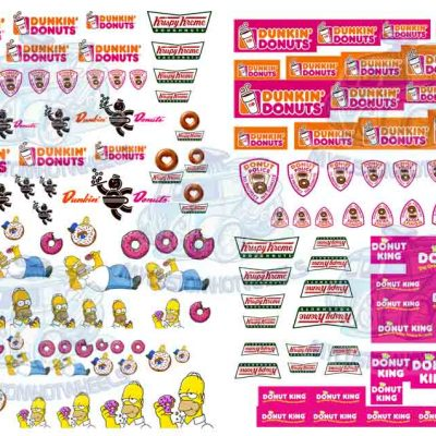 donut decals for Hot Wheels