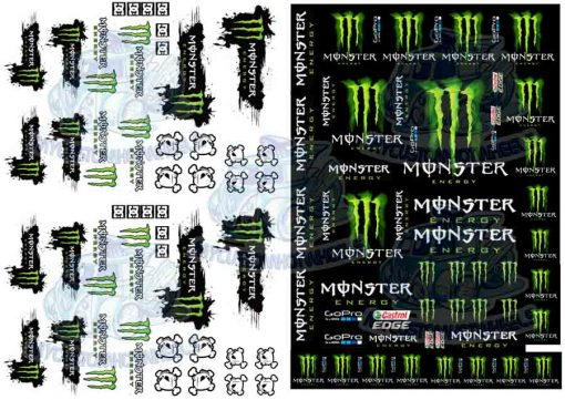 Monster Racing Decals in 1:32 scale