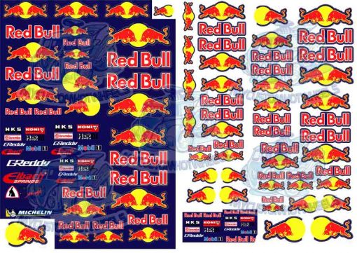 Redbull Racing Decals for 1/32 scale model cars