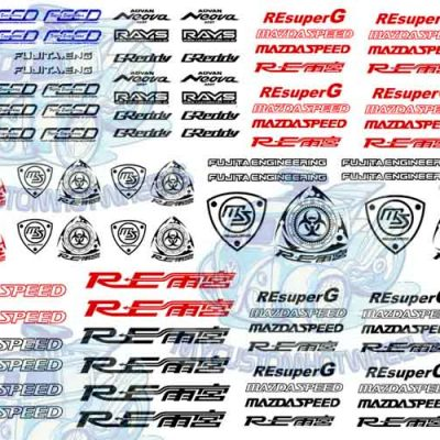 mazda racing decals