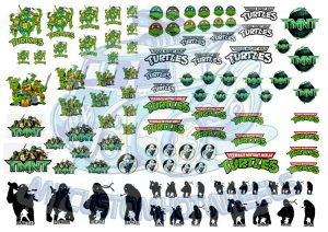 TMNT Teenage Mutant Ninja Turtles Decals 1:64 scale Hot Wheels