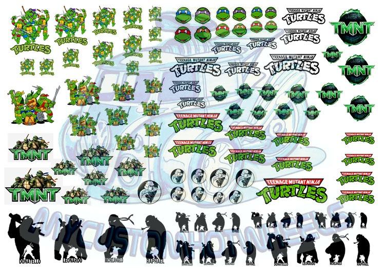 TMNT Teenage Mutant Ninja Turtles Decals 1:64 scale Hot Wheels