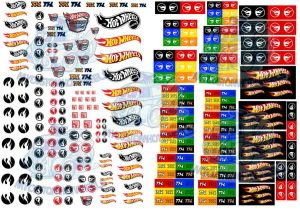 Hot Wheels Treasure Hunt Logo decals