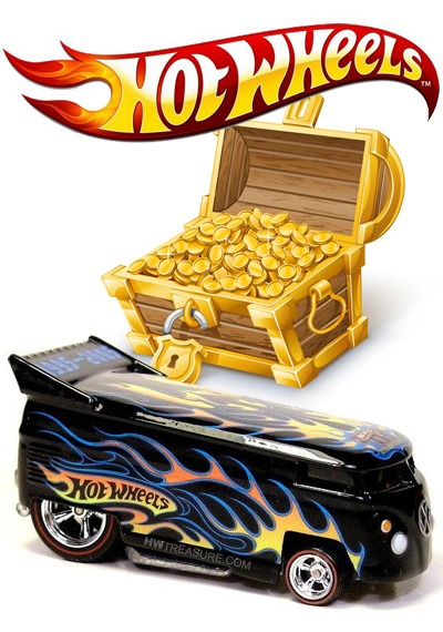 Hotwheels Logo Treasure Hunt Decals Custom Hot Wheels