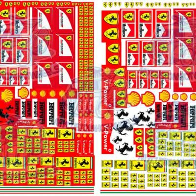 Ferrari decals for 1:64 scale model cars