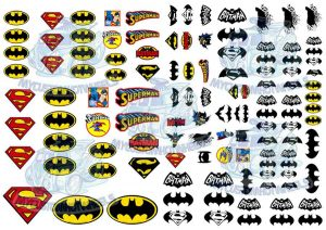 Superman Batman Decals for 1:32 Model cars
