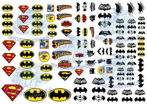 Superman Batman Decals for 1:32 Model cars