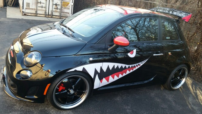 Shark mouth decals and bomber nose art pin up girl decals for model cars