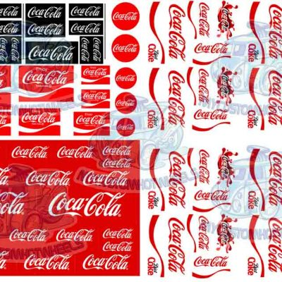 coke decals for 1:32 scale model cars