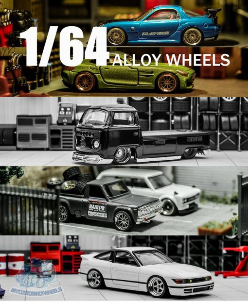 Aftermarket alloy wheel range for 1:64 scale diecast cars