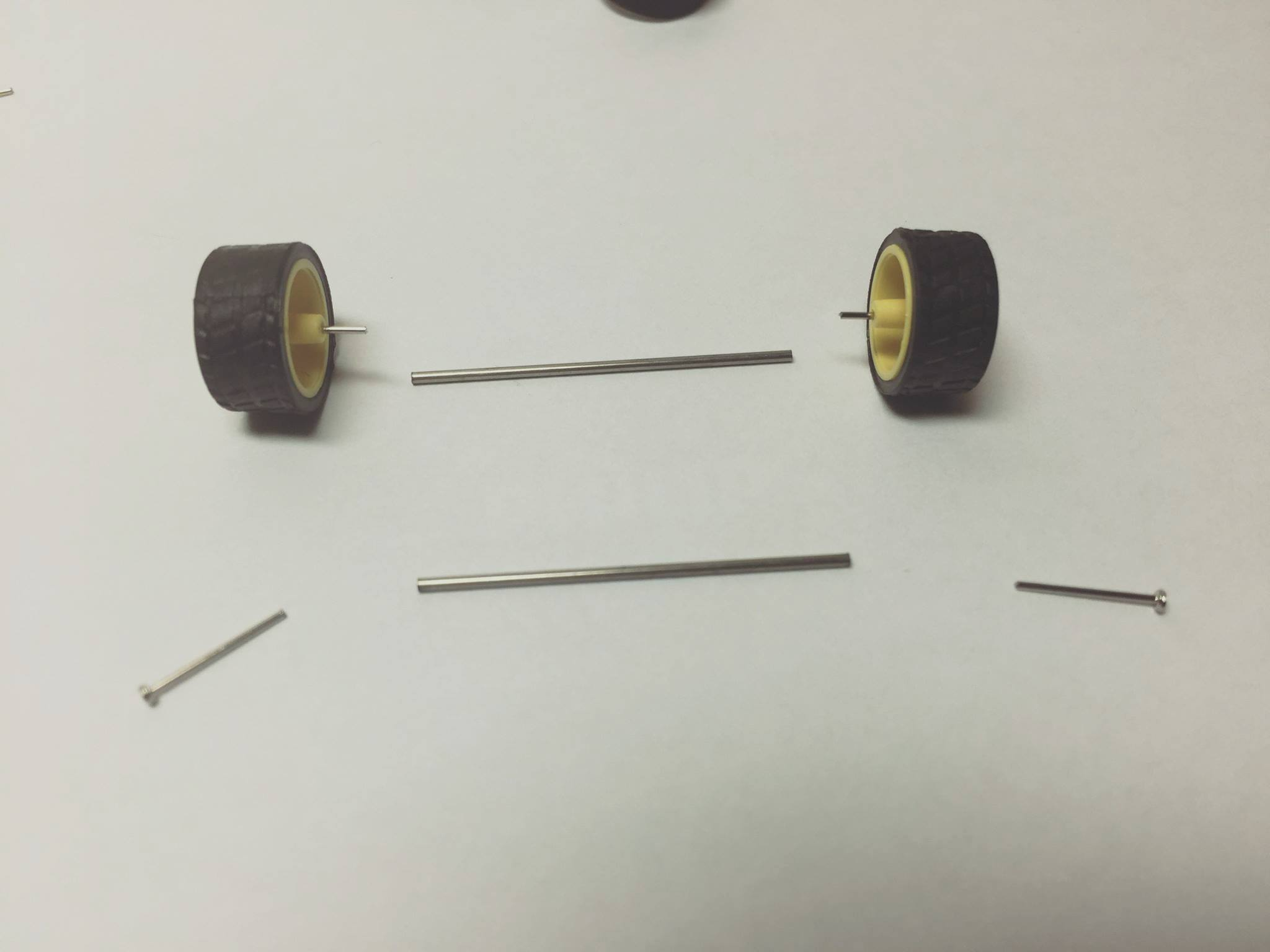1/64 axles for hot wheels and diecast cars