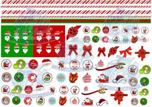 Christmas decals for model cars