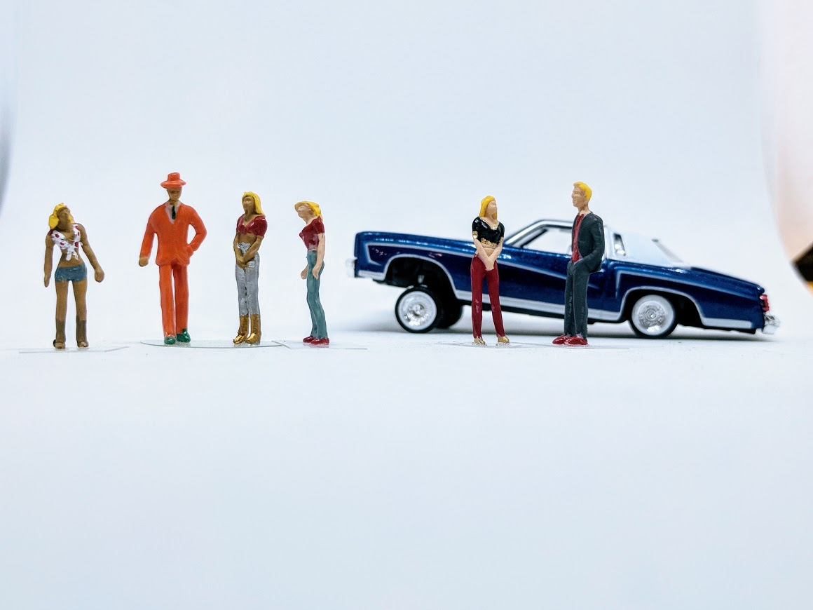 Pimps and Hoes 1:64 scale diorama Figurines set