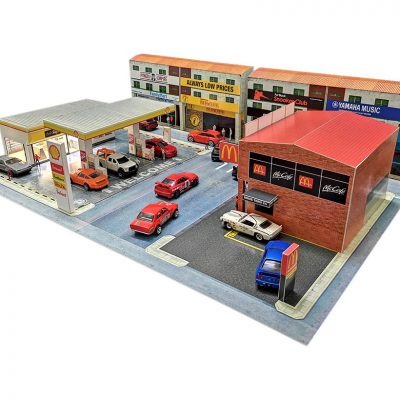 huge city diorama layout for Hot Wheels