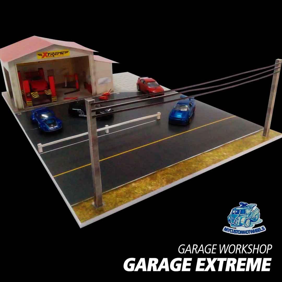 Garage Workshop 1:64 Diorama Building Kits for Hot Wheels Cars