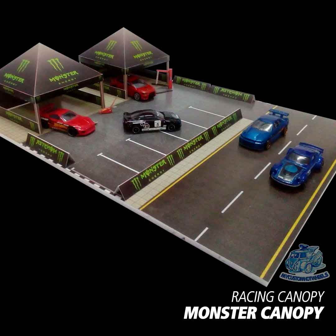 Monster Energy Racing Team Canopy - 1:64 scale diorama building kit