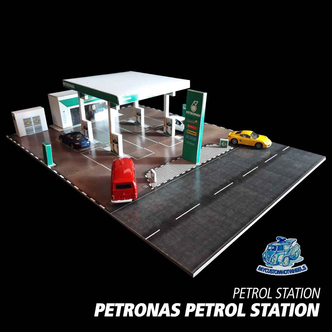 Petronas Petrol Gas Station 1-64 Diorama Building