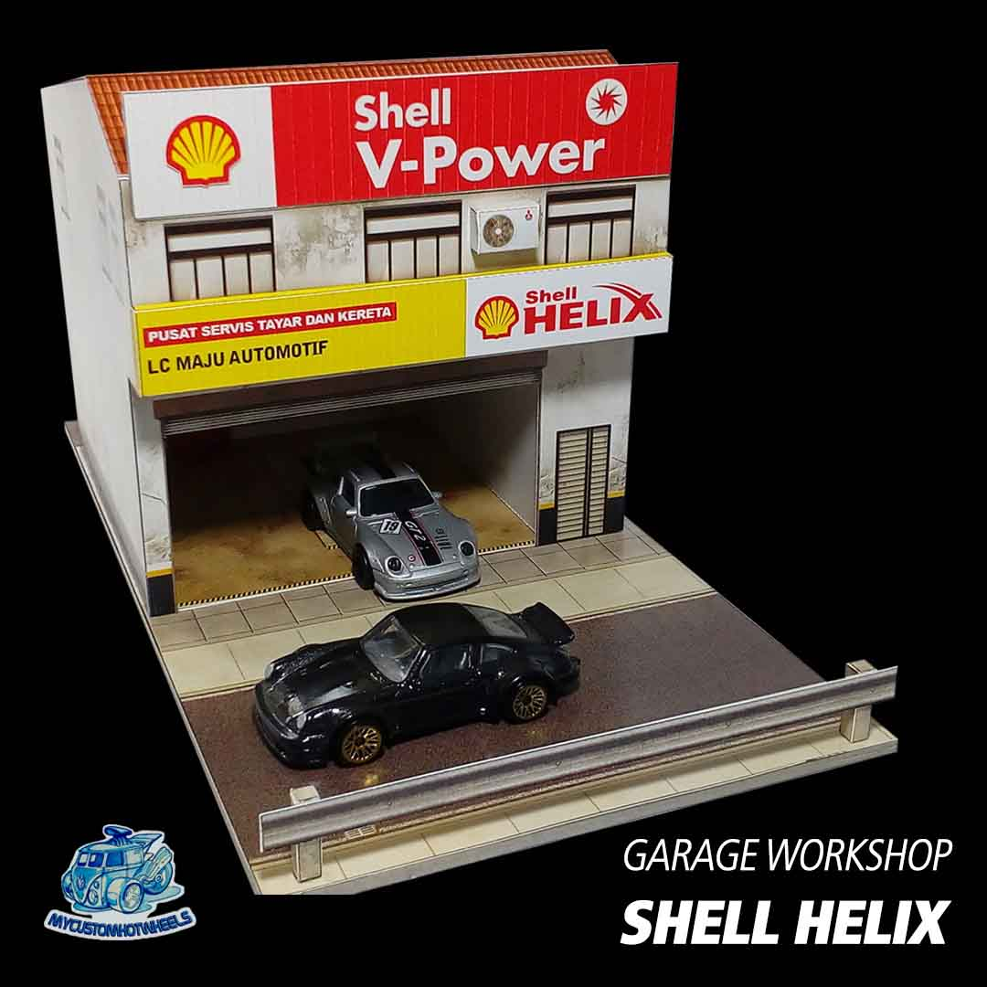 Shell Garages: 1:64 Diorama Buildings For Hot Wheels