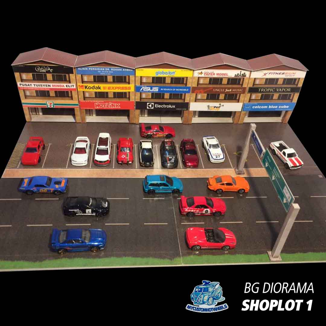 Shops Amp Stores 1 64 Diorama Buildings For Hot Wheels