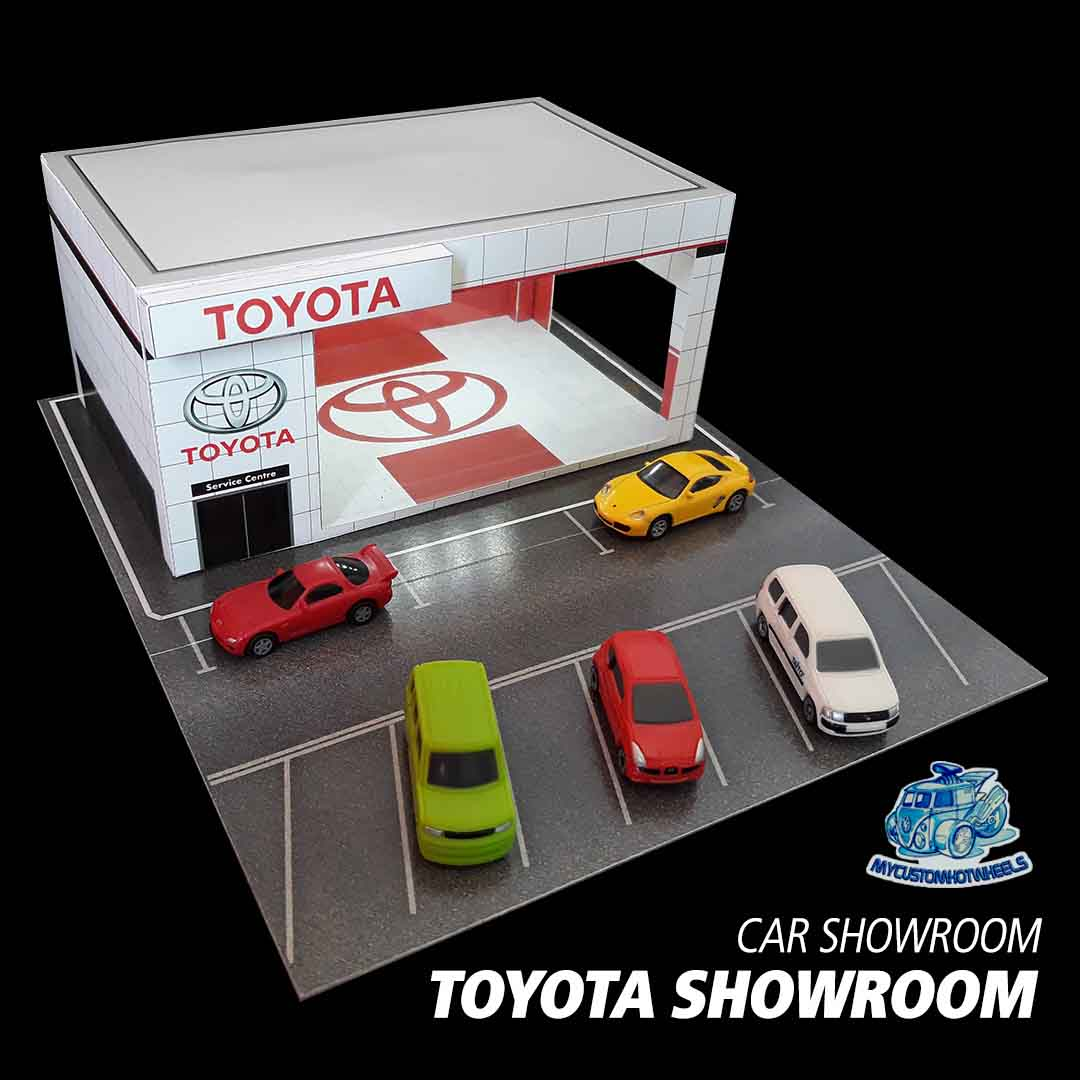Toyota Showroom Car dealership - diorama building kit in 1/64 scale