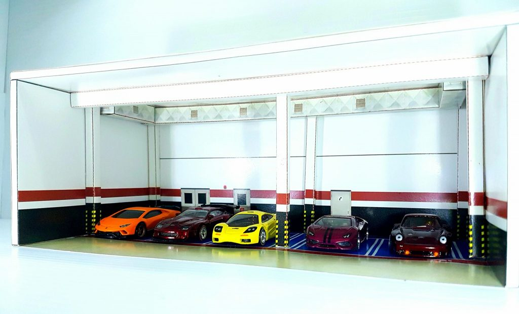 Underground Parking Garage 1:64 diorama building kit for Hot Wheels cars